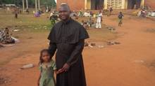 Catholic priest Xavier-Arnauld Fagba shelters Muslims in Central African Republic. (The Globe and Mail/Geoffrey York)