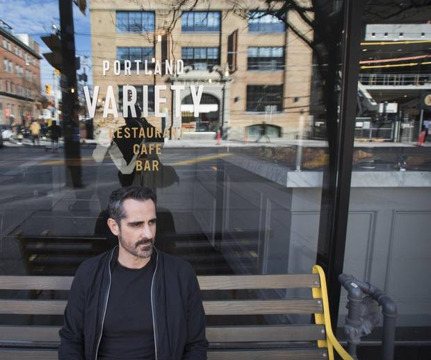 Milton Nunes, owner of Portland Variety, a King St. West restaurant, is photographed on Nov 27 2017. Milton says since the new streetcar traffic rules came into place, business at his restaurant has dropped off noticeably and says people driving in, are confused by the new rules.