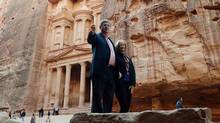 Prime Minister Stephen Harper and his wife, Laureen, visit Petra, a historical and architectural city in southern Jordan that is famous for its rock-cut architecture. (SEAN KILPATRICK/THE CANADIAN PRESS)