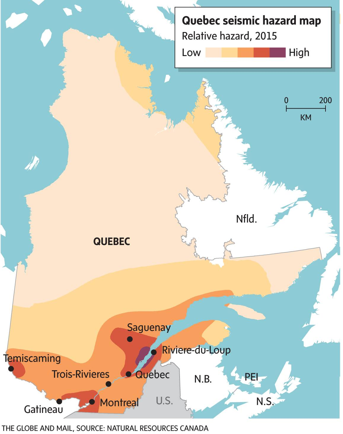 Quebec seismic hazard map - The Globe and Mail on seismic activity map, costa rica time zones map, seismic analysis, seismic map colors, clay map, national seismic map, paleogeographic map, mitigation of seismic motion, seismic risk map, plate tectonics map, seismic loading, seismograph map, ibc seismic map, contour lines on a map, seismic risk,