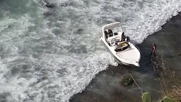 A fast boat that landed on southern Sicily on the night of Feb. 3-4.