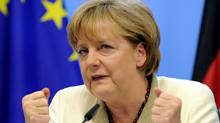 Chancellor Angela Merkel faces heat from German euro-skeptics over bailouts to Greece, Portugal and Ireland. JOHN THYS/AFP/Getty Images) (JOHN THYS/AFP/Getty Images)