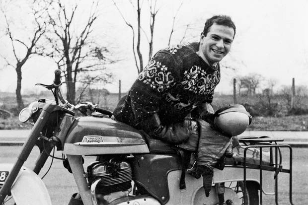 Oliver Sacks with his new 250cc Norton motorbike in 1956.