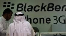 Cyberspace confidential: Tech companies in emerging markets like Saudi Arabia, pictured, and the UAE can face vexing ethical issues and dubious associations (STR/AP)