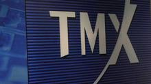 A screen at the TMX Broadcast Centre in The Exchange Tower in Toronto, on March 10, 2011. (Deborah Baic/The Globe and Mail/Deborah Baic/The Globe and Mail)