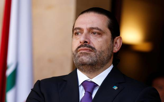 Lebanon's Prime Minister Saad al-Hariri is seen at the governmental palace in Beirut, Lebanon October 24, 2017. Picture taken October 24, 2017.