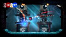 A screenshot of new content included in the LittleBigPlanet 2: Move Pack, an add-on for the PlayStation 3 exclusive platform adventure game LittleBigPlanet 2. (SCEA)