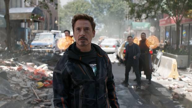Robert Downey, Jr. stars as Tony Stark in Avengers: Infinity War.