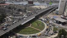 Heavy traffic is seen on a bridge in Ikoyi neighbourhood in Lagos March 27, 2012. (Akintunde Akinleye/Reuters)