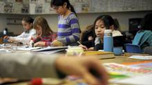 Alison Ng, 10, right, is photographed on Jan 23 2012, during her visual arts class at Baythorn Public School in Thornhill, Ont.. (Fred Lum/The Globe and Mail/Fred Lum/The Globe and Mail)