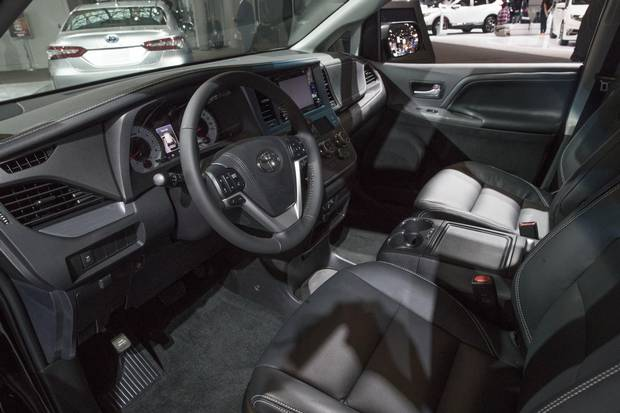 The interior of the 2018 Toyota Sienna.