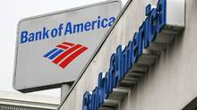 The Bank of America logo is displayed on the side of a Bank of America branch office January 20, 2010 in San Francisco, California. (Justin Sullivan/Getty Images)