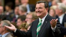 Minister of Finance Jim Flaherty answers questions in the House of Commons after delivering the federal budget on Monday. (Adrian Wyld/Adrian Wyld/The Canadian Press)