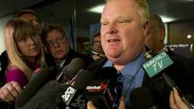 Toronto mayor Rob Ford speaks to the media in this file photo. (Kevin Van Paassen/The Globe and Mail)