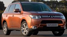 "The upcoming Outlander will be on sale in Mitsubishi's 2012 fiscal year, which ends in March, 2013, and ""will use a plug-in hybrid system derived from MMC's already existing EV technology."" (Mitsubishi/Mitsubishi)"