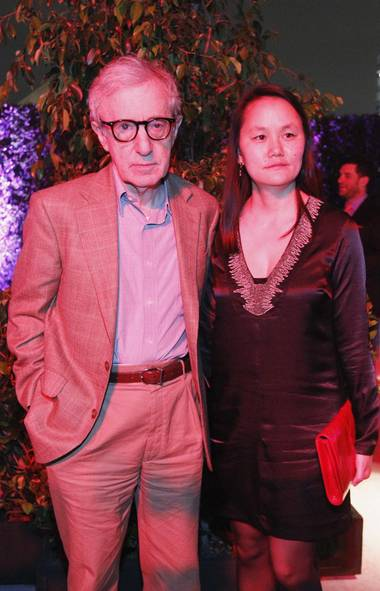 "Celebrity parenting expert Woody Allen and his wife Soon-Yi Previn make plans for Father's Day at the premiere of ""To Rome with Love"" in Los Angeles last week. (Reuters)"