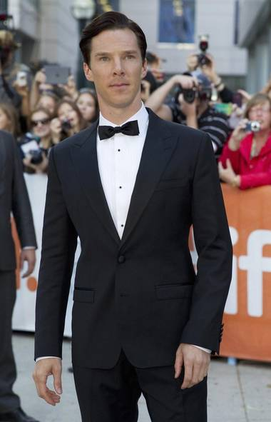 This is British actor Benedict Cumberbatch at the Toronto International Film Festival. (Fred Thornhill/Reuters)
