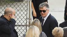 Actor Alec Baldwin arrives for the funeral services of James Gandolfini outside the Cathedral Church of Saint John the Divine in New York June 27, 2013. Gandolfini died in Rome on June 19, 2013, after suffering a heart attack at the age of 51. (LUCAS JACKSON/REUTERS)