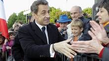 France's President Nicolas Sarkozy on April 24, 2012. (POOL/Reuters)