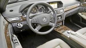 Inside the 2011 Mercedes-Benz E-Class wagon..