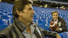 Toronto Argonaut owners Howard Sokolowski (left) and David Cynamon sit inside the Rogers Centre in Toronto on Saturday, November 3, 2007. File Photo by Philip Cheung/The Globe and Mail (Philip Cheung/The Globe and Mail)