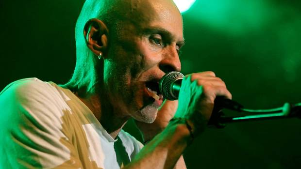 John Mann is shown singing at The Commodore Ballroom in Vancouver in a scene from the documentary Spirit Unforgettable.