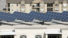 Solar panels on a rooftop. Solar power companies are feeling the pinch from overcapacity, intense competition and doubts about government subsidies. (Arise Technologies/Arise Technologies)