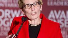 Kathleen Wynne speaks during the final debate of the Ontario Liberal leadership race at The Old Mill Inn and Spa in Toronto, Jan. 9, 2013. (Tim Fraser/Tim Fraser)