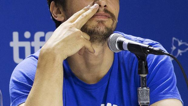 "Actor James Franco during a press conference for the movie ""Spring Breakers"" at the 2012 Toronto International Film Festival in Toronto on Friday, Sept. 7, 2012. (Michelle Siu/THE CANADIAN PRESS)"