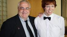 Ottawa city councillor Allan Hubley poses with his son Jamie in this family photo released on Oct. 17, 2011. Hubley says bullying was part of the reason his 15-year-old son took his own life in the fall of 2011. (Hubley Family/The Canadian Press)