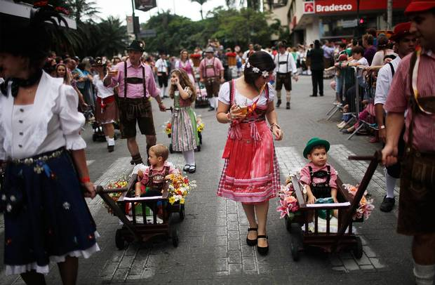 Oktoberfest in Blumenau, Brazil, which was founded by German immigrants in 1850, is half beer festival, half rollicking civic party.