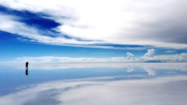 A view from Uyuni Salt Flat, Bolivia
