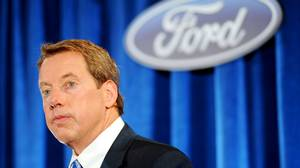 Ford Executive Chairman Bill Ford at a news conference after the Ford An