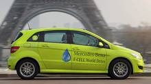 The Mercedes B-Class Fuel Cell models world tour will stop in Vancouver on March 17. (Mercedes-Benz)