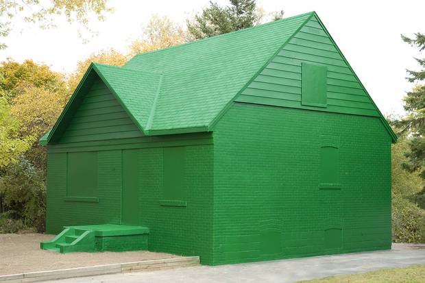 Artist An Te Liu once painted a postwar bungalow 'Monopoly green' as part of the 'Leona Drive Project' in Willowdale, Ont.
