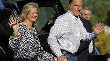 Republican presidential candidate and former Massachusetts Governor Mitt Romney and his wife Ann arrive at Brewster Academy in Wolfboro, New Hampshire August 27, 2012 to prepare for the Republican National Convention. (BRIAN SNYDER/REUTERS)