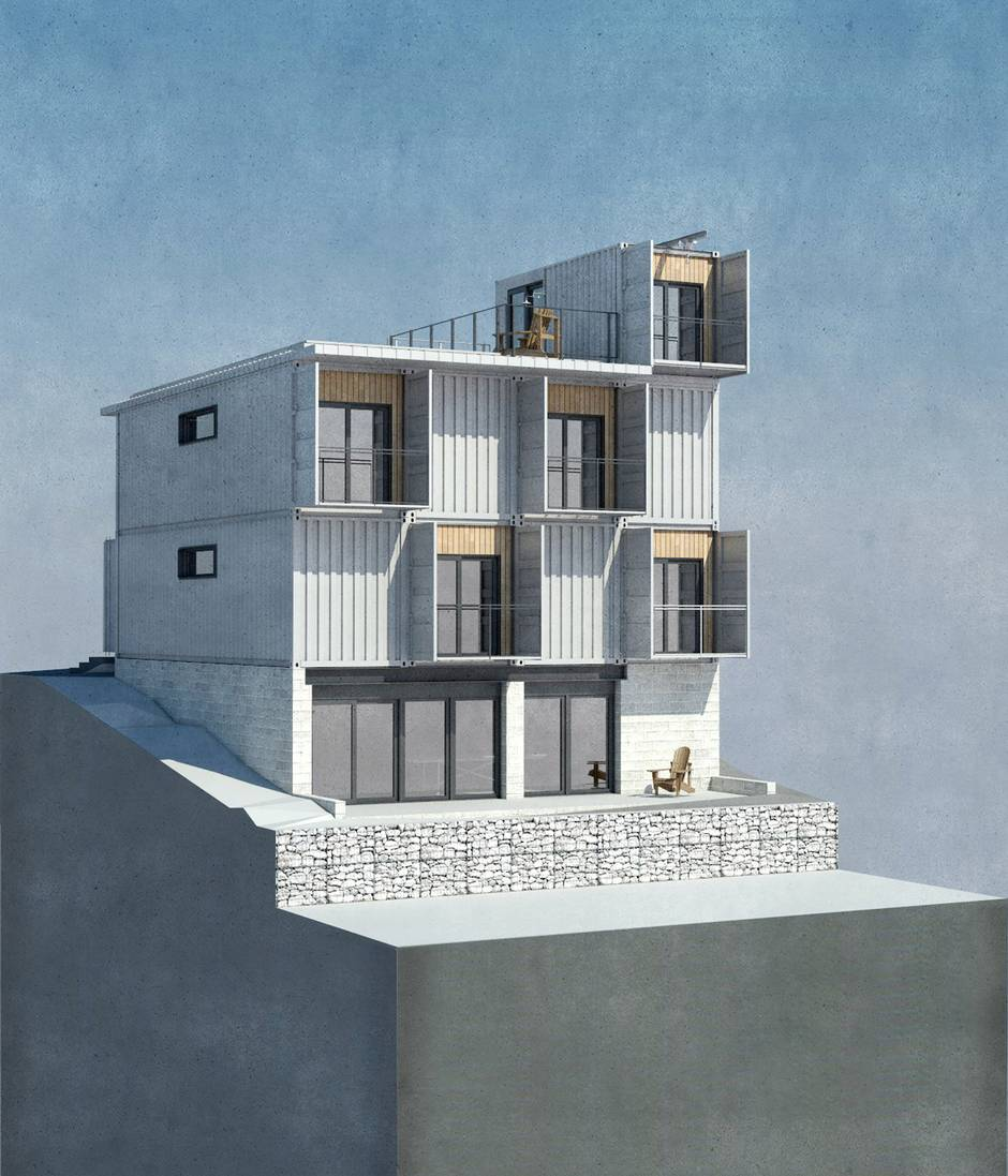 Proposed hamilton container home is a steel building for steeltown the globe and mail - Container homes toronto ...