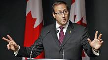 Defence Minister Peter MacKay speaks during a news conference at National Defence headquarters in Ottawa on Feb. 14, 2012. (CHRIS WATTIE/Chris Wattie/Reuters)