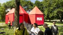 Martina Abramaovic's MAI-Prototype tents in Trinity Bellwoods Park in Toronto on June 18, 2013. (Kevin Van Paassen/The Globe and Mail)