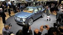 The new Bentley EXP 9F car. (Martial Trezzini/AP)