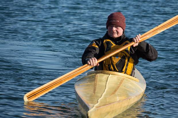 Governor-General David Johnston paddles a kayak at Pearce Point, Northwest Territories. The 76-year-old is retiring as the Queen's representative in Canada, making way for former astronaut Julie Payette.