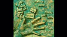 Details from a statue for abuse victim Martin Kruze, by artist Michael Irving. (Michael Irving)