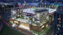 Artist's impression of plans for a casino at BC Place in Vancouver. (Globe files/Globe files)