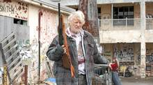 Dutch actor Rutger Hauer on the set of Hobo With a Shotgun last month in Dartmouth: 'I feel like Clint Eastwood and John Wayne in there.'