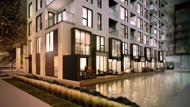 The Bassins du Havre project incorporates water into its design, featuring terraces made to look like docks.