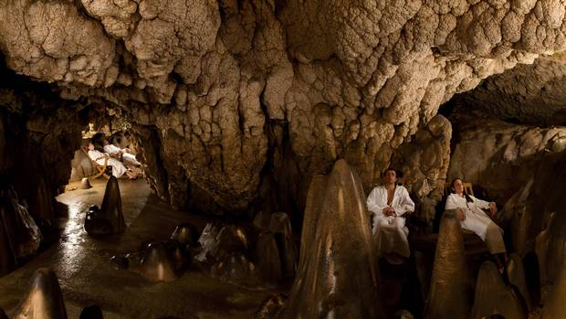 At the Grotta Giusti resort in Tuscany, it's the grotto that steals the show.