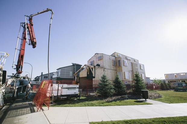 This house currently under construction in the Symons Gate community in northwest Calgary will be the first in the province to receive a certificate from the Passive House Institute -- an internationally recognized arbiter of sustainable building practices.
