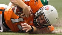 The B.C. Lions and quarterback Travis Lulay host the Calgary Stampeders in Sunday's CFL West Division semi-final. (file photo) (DARRYL DYCK/THE CANADIAN PRESS)