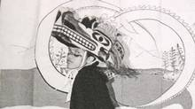 A Hupacasath First Nation dancer wears a traditional cedar mask, known as a hinkeet, at a memorial feast in Port Alberni, B.C., in this 2006 handout photo. (Handout/THE CANADIAN PRESS)