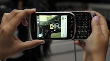 Blackberry Torch, seen at a Research In Motion event in August, 2011. (Fred Lum/Fred Lum/The Globe and Mail)
